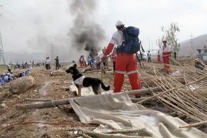 مانور تیم های امدادی سازمان جوانان هلال احمر