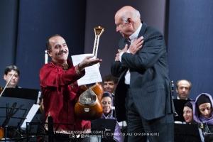 کیوان ساکت نوازنده تار و آهنگساز و فرهاد فخرالدینی